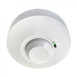 Wholesale New GHz HF Systerm LED Microwave Degree Radar Sensor Light Switch Ceiling light Occupancy Body Motion Detector