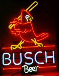 Wholesale Busch Beer Cardinal Batter Neon Sign Custom Handmade Real Glass Tube Beer Bar Disco KTV Club Pub Advertising Display Neon Signs quot X17 quot
