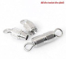 Wholesale ap corporation Silver Plated Screw Clasps for Bracelets Necklace x3 mm quot x1 quot B21282 seasons cap corporation c