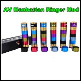 V2 fuhattan à vendre-Manhattan AV Mods E Cigarette Mods Raibow AV Manhattan Ringer Mod 22mm Diamètre 510 fil VS mods Fuhattan V2 DHL