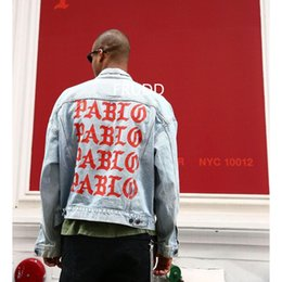 Wholesale Life Jackets Pockets - european fashion trends brand clothing cool jackets punk Kanye west the life of pablo jean ripped denim jacket men clothes