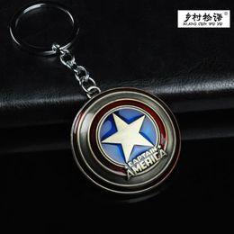Wholesale Hot like the United States the captain of the United States captain shield zinc alloy key chain key chain