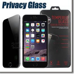 Wholesale For Iphone Privacy Tempered Glass Privacy Screen Protector For Iphone Plus Iphone Samsung Note5 S6 S7 Anti Spy Peeping in Retail Box
