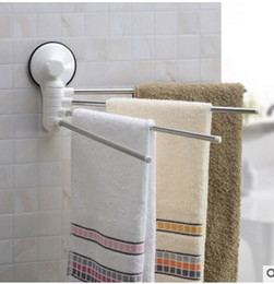 Wholesale Vacuum suction cup towel rack Nail free drilling can be washed repeatedly using a strong vacuum suction cup towel rack