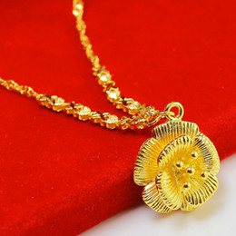 The original design of the new 999 thousand gold gold necklace female character Beaded gold imitation gold chain transfer beads