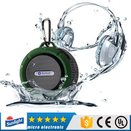 c6 Bluetooth Speaker Waterproof Wireless Shower Handsfree Mic Suction Chuck Speaker Car Speakers Portable mini MP3 Super Bass Call Receive