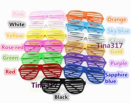 Wholesale New Best price Shutter Glasses Full Shutter Glasses Sunglasses Glass fashion shades for Club Party sunglasses