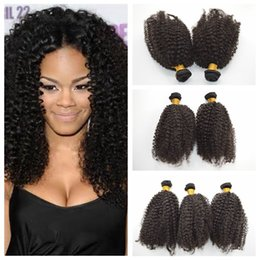G-EASY Human Hair Weave 100% Malaysian kinky curl Hair Extensions,35g pc Natural Black hair bundles