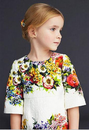 New 2016 noble big Girls party vest Dresses Toddler Baby girls half sleeve spring autumn dobby dresses children clothing