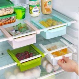 Wholesale Plastic Kitchen Refrigerator Fridge Storage Rack Freezer Shelf Holder Kitchen Organization organizing food drink fruit and