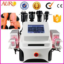 Wholesale Hot sale KHZ vacuum cavitation radio frequency best ultrasonic liposuction cavitation machine with ilipo laser pads Au