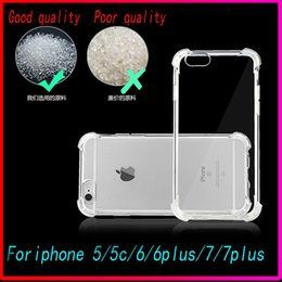 Wholesale New Shockproof DirtyProof Waterproof Air Cushion Crystal Clear TPU Soft Case Cover Skin For Iphone plus s plu s