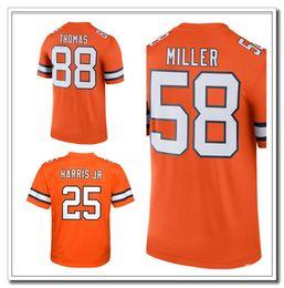 Wholesale 2016 Men s Denver and Broncos Von Miller Trevor Siemian Chris Harris Jr Demaryius Thomas Orange Color Rush Limited Jersey