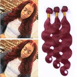 New Arrival Wine Red Pure Color 3 Bundles Human Hair #99J Brazilian Body Wave Hair Weaves Weft Burgundy Hair Extensions 3Pcs Lot
