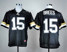 Top Quality ! Cheap Drew Brees Purdue Boilermakers Jersey 15 Drew Brees Jersey Black NCAA College football jerseys Mix Order !