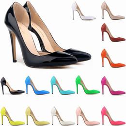 LOSLANDIFEN Sexy Patent Leather High Heels Women Pumps Shoes Spring Brand Wedding Shoes Pumps 20 Colors Size 35-42 302-18PA