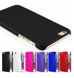 Wholesale Fashion Rubber Paint Matte Frosted Plastic Case iphone Back Cover Case for Iphone s s plus