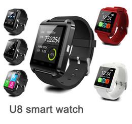 Nouvelle u8 bluetooth montre-bracelet à puce à vendre-Nouveau U8 Bluetooth Smartwatch UWatch Montres Montres Smart Watch pour iPhone 5 6S plus Samsung S5 S6 Téléphone HTC Android DHL