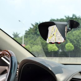 TFY Car Windscreen Mount Holder Sun Shade & Glare Visor for 4.5 to 5.2 and 5.3 to 6.2 Inch Screen Smartphones