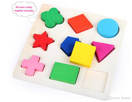 Wholesale Wooden puzzles 9 geometry puzzles, children's educational toys puzzle
