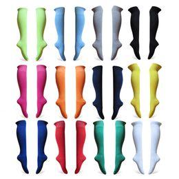 Wholesale Solid long thin summer pure colour stocking long socks grey pin Neon green cycling dancing soccer football team socks
