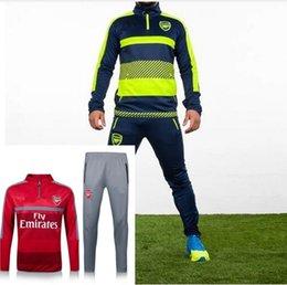 Wholesale 2016 Arsenal France Survetement tracksuit soccer maillot training suits maillot Sweatshirts football shirt Pants