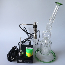 Wholesale 2016 E Digital Nail Kit with in Titanium Quartz hybrid nail coil heater work with oil rigs Glass bong water pipe