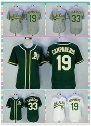 Wholesale New Product Men s Oakland Athletics Baseball Jersey Bert Campaneris Jose Canseco Yellow Gray White Dark Green Elite Jerseys