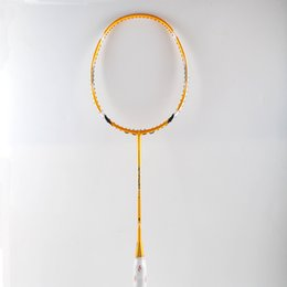 Wholesale High Quality Sport dexterous Badminton Rackets yellow Durable Badminton Racket Racquet Carbon Fiber Badminton Racket Own brand