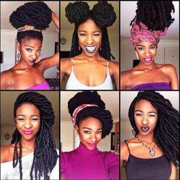 Wholesale 24strands pack quot Faux Locs Braids Synthetic Hair Faux Dreadlocs Braiding Hair Extensions Havana Twist Braids Soft Dread Locks