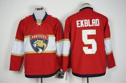 Wholesale 2016 Latest Florida Panthers Aaron Ekblad Jersey Home Red Ice Hockey Jersey Stitched Name And Number