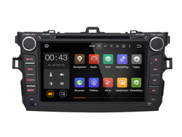 Wholesale 8 Quad Core Android Car DVD Player For Toyota Corolla With Stereo GPS Multimedia Map Radio