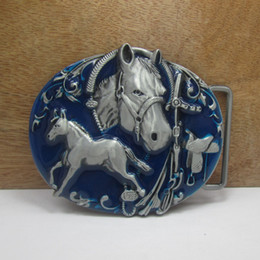 BuckleHome horse belt buckle rodeo belt buckle western buckle with pewter FP-02834 free shipping