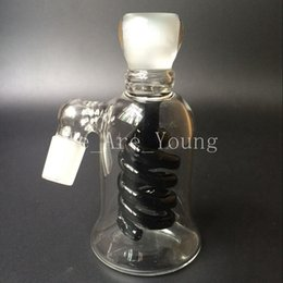 Wholesale New Arrival Latest Borosilicate Glass Ash Catcher mm or mm spiral percolator Glass Ashcatcher Water Pipes Attachment