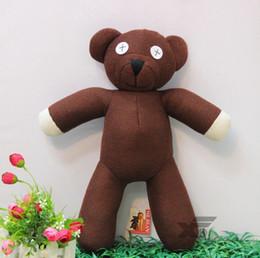 Wholesale Cute Mr Bean TEDDY BEAR Stuffed Plush teddy bear toy Fashion plush doll Best Gift For Children cm Fast Shipping