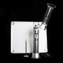 Wholesale In stock colorful G9 H NAIL portable dab rig with mah battery HENAIL ceramic titanium nail aluminum box