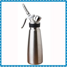 Wholesale 2016 Amazon Hot Selling High Quality ML L Stainless Steel Whipped Cream Dispenser Whipper Used For Coffee Milk