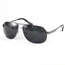 Wholesale Men Polarized Sunglasses Grey Alloy Frame Goggles Sport Fahsion Sun Glasses Shade Point TO Read Eyewear Eye Glassses UV400 Driving Shade2861