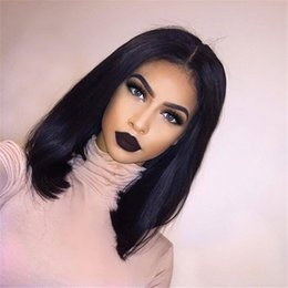 High Density Glueless Full Lace Human Hair Wigs For Black Women 7A Malaysian Natural Straight Lace Front Human Hair Wigs