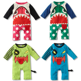 Wholesale Baby Rompers Baby Shark Rompers Cotton Long Sleeve Jumpsuits Colors for Year Baby p l