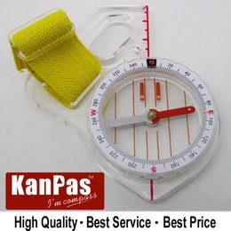 Wholesale stock buttom price sale KANPAS trainning orienteering compass Basic thumb compass MA F free bandana gift