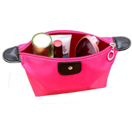 Wholesale Lady MakeUp Pouch Cosmetic Make Up Bag Clutch Hanging Toiletries Travel Kit Jewelry Organizer Casual Purse Waterproof Nylon Makeup Case
