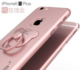 Wholesale New Arrival Rose Gold Color Case For Apple iPhone s s plus s plus Luxury High Quality Matting PC Hard Cover Phone With Phone Holder