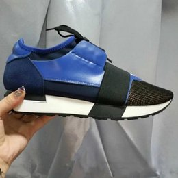Wholesale Name Brand Patchwork Man Woman Casual Shoes Outdoors Fashion Mixed Colors Lace up Low Cut Mesh Race Trainer Runner Shoes