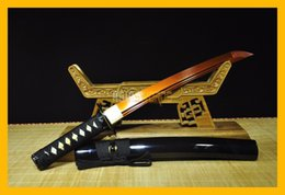 Wholesale COLLECTION SWORD for decorate Hand Forged Full Tang Authentic T10 Red Steel Japanese Warrior Samurai Katana Tanto Ninja Sword