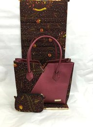 Wholesale new design by DHL fashion Women s Wax hand bags with african traditional PARTY derss WAX fabirc TX