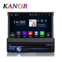 Wholesale 7 Inch Single Din Android Quad Core Ghz Universal Car DVD Player With BT Touchscreen GPS Navigation Radio Automotivo