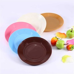 Wholesale 200pcs Colorful Round Flat Plate Kitchen Tableware Saucer Snacks Seeds Flat Food grade Plastic Snack Dish ZA0642