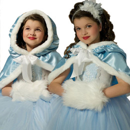 Christmas girls dress skirt with hooded dresses girls lace fancy dress two pieces tippet princes Cosplay children skirts frozen love 800016