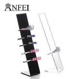 Wholesale 10 Pieces New Design Acrylic Hairband Holder Fashion Hair Clip Display Shelf Headbands Stand Designer Organizer